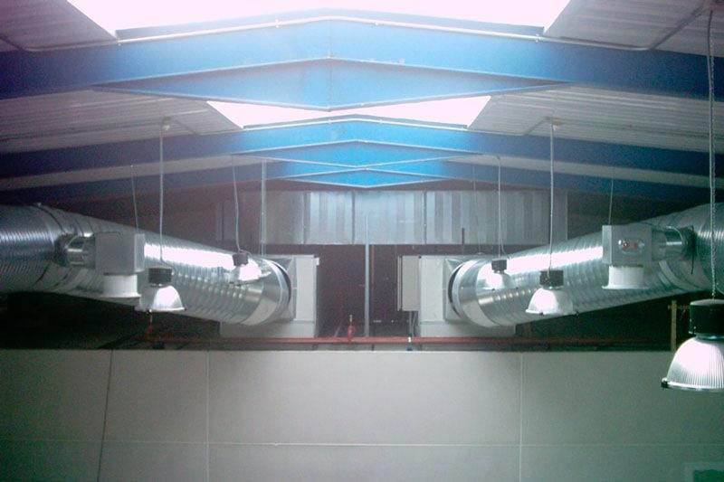 un sistema óptimo de climatización en naves industriales