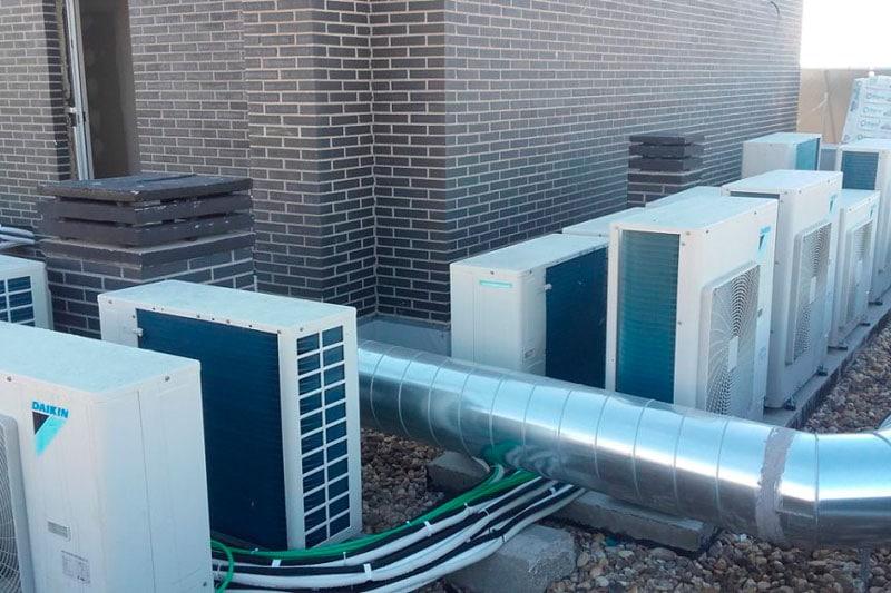 sistema de climatización en centros de trabajo